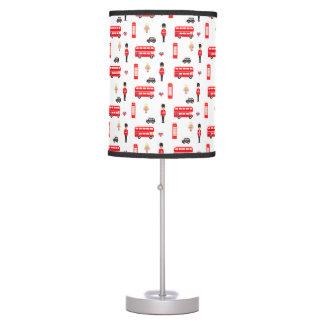 England Symbols Pattern Table Lamp