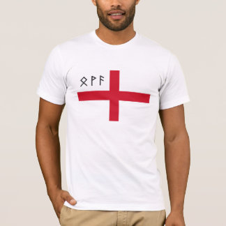 England T-Shirt - Flag with Anglo-Saxon Runes