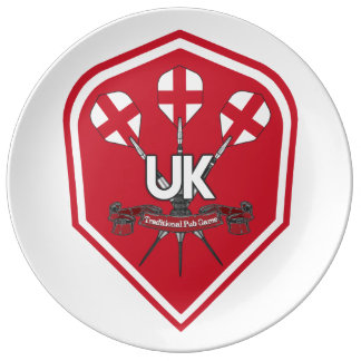 England Traditional Pub Games Plate