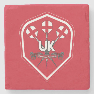 England Traditional Pub Games Stone Coaster