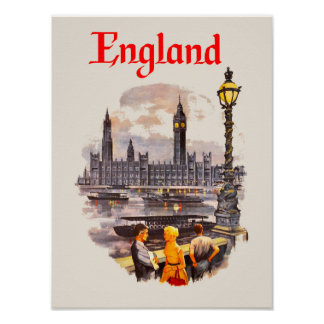 England travel poster