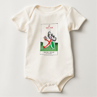 england v ireland rugby balls - from tony fernande baby bodysuit