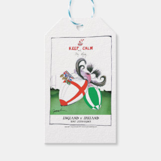 england v ireland rugby balls - from tony fernande gift tags