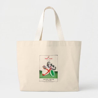 england v ireland rugby balls - from tony fernande large tote bag