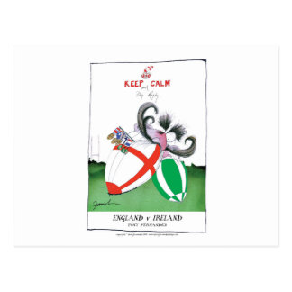 england v ireland rugby balls - from tony fernande postcard