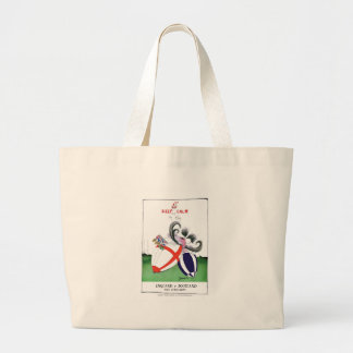 england v scoland rugby balls from tony fernandes large tote bag