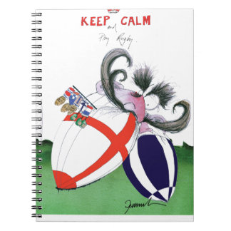 england v scoland rugby balls from tony fernandes spiral notebook