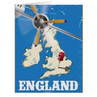 England vintage travel poster. card
