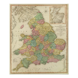 England, Wales, Scotland Poster