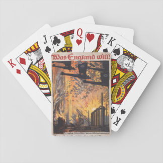 England wants Propaganda Poster Poker Deck