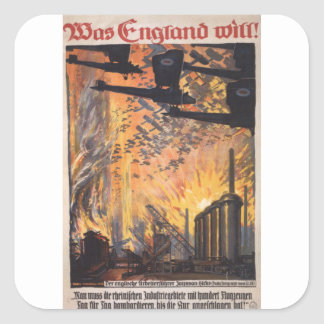 England wants Propaganda Poster Square Sticker