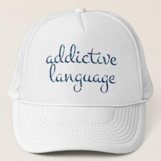 English ADDICTIVE LANGUAGE in Stars Trucker Hat
