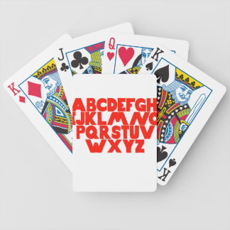 English Alphabet Bicycle Playing Cards
