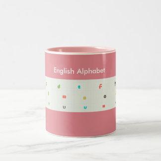 "English Alphabet For Kids ""Mugs""#2 Two-Tone Mug"