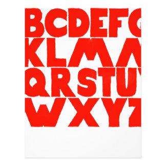 English Alphabet Letterhead