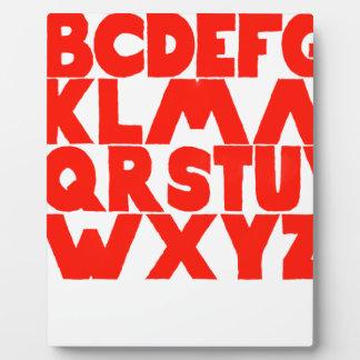 English Alphabet Plaque