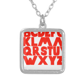 English Alphabet Silver Plated Necklace