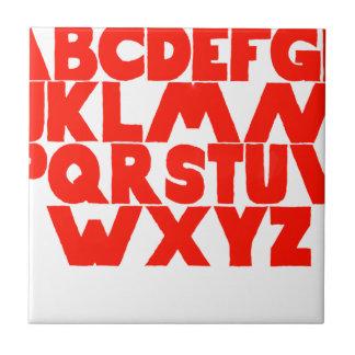 English Alphabet Tile