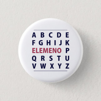 English Alphapbet ELEMENO Song 1 Inch Round Button