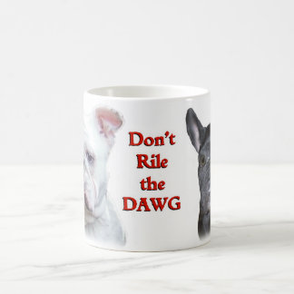 English and French Bulldogs mug