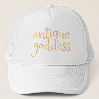 English ANTIQUE GODDESS in Watercolor Trucker Hat