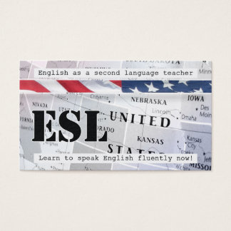 English as a Second Language Business Card