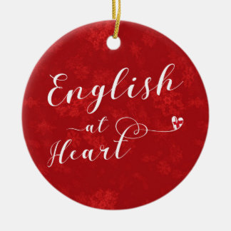 English At Heart, Christmas Tree Ornament, England Ceramic Ornament