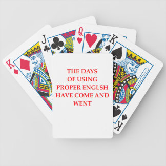 ENGLISH BICYCLE PLAYING CARDS