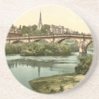 English Bridge, Shrewsbury, Shropshire, England Coaster