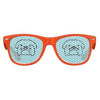 English british bulldog dog party shades