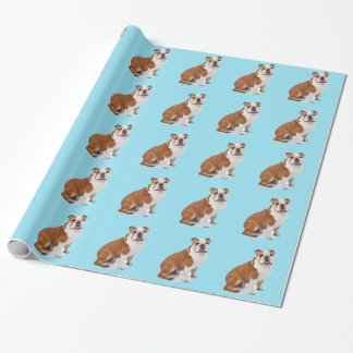 English British Bulldog Wrapping Paper