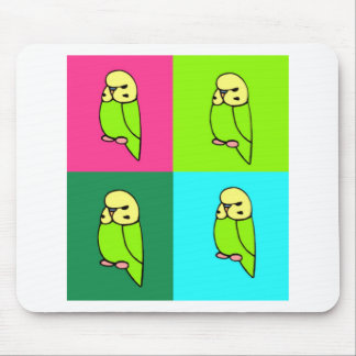 English Budgie Pop Art Mouse Pad