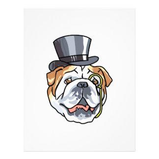 English Bull Dog Personalized Letterhead