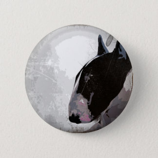 English bull terrier badge buttons. 2 inch round button