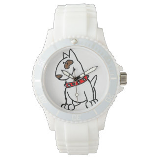 English Bull Terrier Cartoon Watch