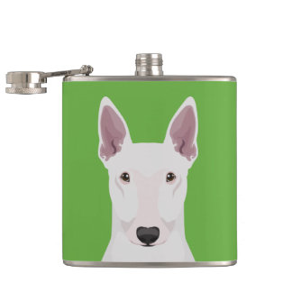 English Bull Terrier Hip Flask