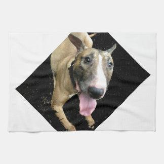 English Bull Terrier Kitchen Towel 16 x 24