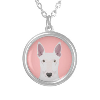 English Bull Terrier Silver Plated Necklace