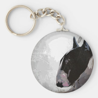 English Bull Terrier urban style keyring keychain