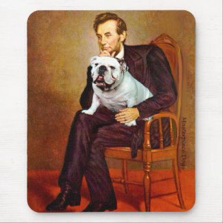 English Bulldog 9 - Lincoln Mouse Pad