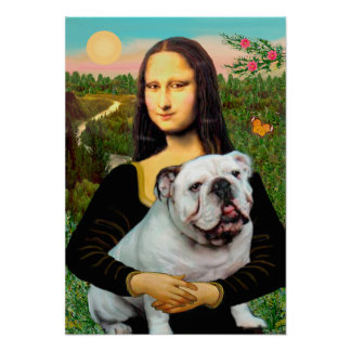 English Bulldog 9 - Mona Lisa Poster