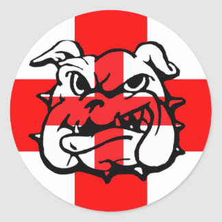 English Bulldog awesome English Round Sticker