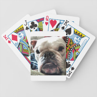 English Bulldog Bicycle Playing Cards