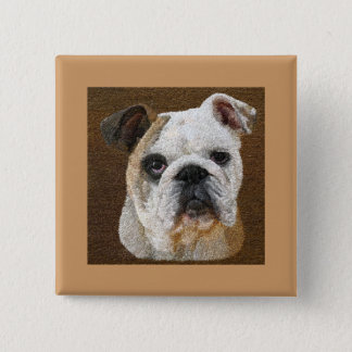 English Bulldog Buttons