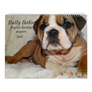 English Bulldog Calendar 2016