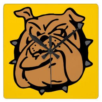 English Bulldog Cartoon Clocks