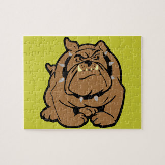 English Bulldog Cartoon Jigsaw Puzzle