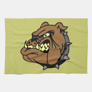 English Bulldog Cartoon Kitchen Towel