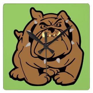 English Bulldog Cartoon Wallclocks