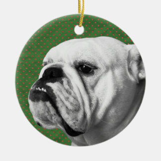 English Bulldog Ceramic Ornament